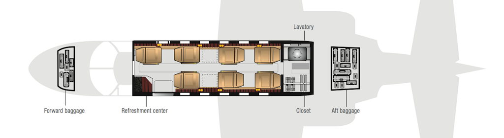 Paragon Airways Citation Bravo Cabin Layout